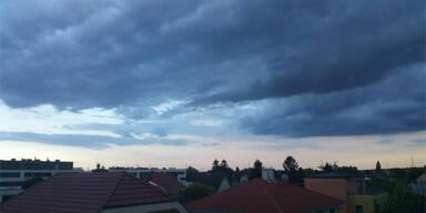 Unwetter Wien Oberlaa
