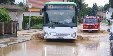 Überflutungen Starkregen Tulln
