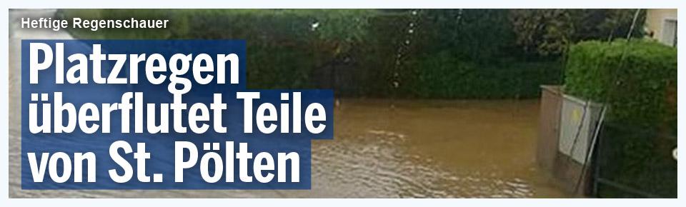 Platzregen überflutet Teile von St. Pölten