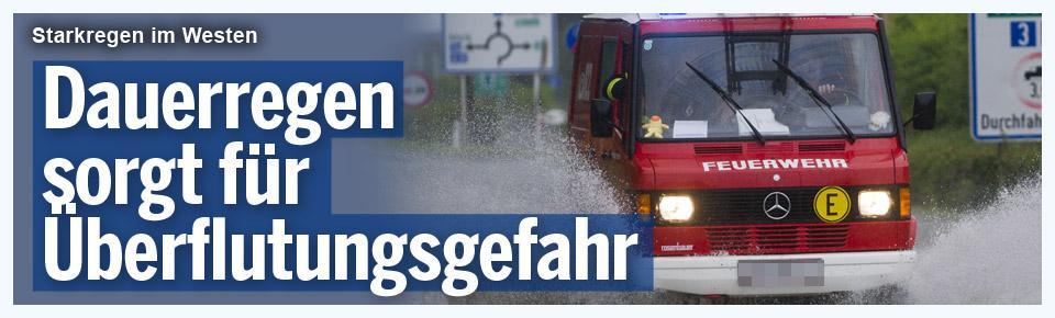 Dauerregen sorgt für Überflutungsgefahr