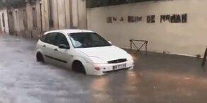 Schwere Unwetter in Spanien & Frankreich