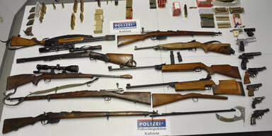Thiersee Kufstein Waffen sichergestellt