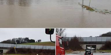 Auto Hochwasser