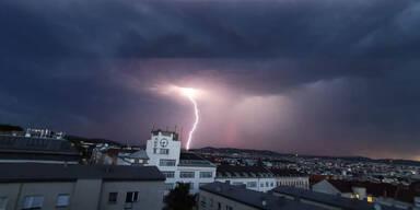 Hier besteht heute wieder Unwetter-Gefahr