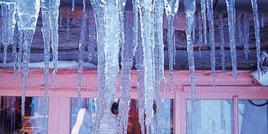 Frost Eiszapfen