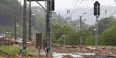 Hochwasser bei Taxenbach/ Tirol