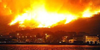 Kroatien Split Waldbrand