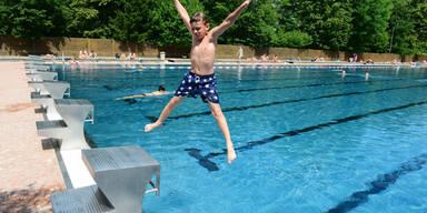 baden sommer freibad kind