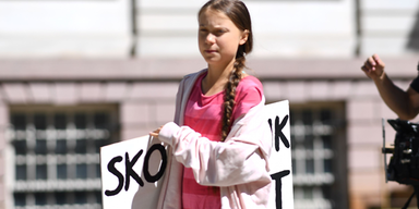 Greta Thunberg auf Klimademo