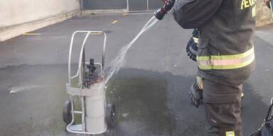 Gasflasche geriet in Brand: Wiener Kindergarten geräumt