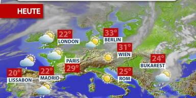 Aktuelle Wetterprognose für Donnerstag (16.06.2021)