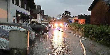 Thalgau Unwetter Überschwemmungen