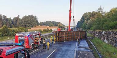 Lkw-Unfall sorgte für stundenlange Sperre der A1