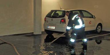 Überflutete Garage in Innsbruck