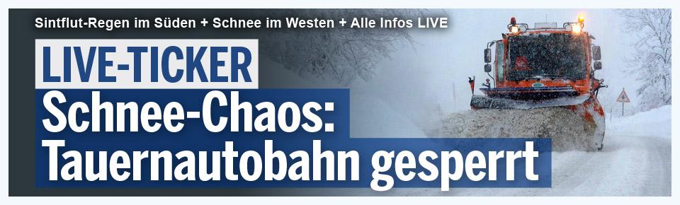 Schnee-Chaos: Tauernautobahn gesperrt