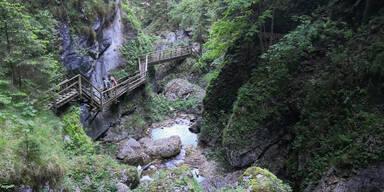 Bärenschützklamm Felssturz Steiermark