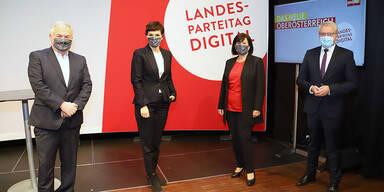 Gerstorfer als oberösterreichische SPÖ-Chefin wiedergewählt