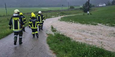 Höchste Regenwarnstufe in Österreich