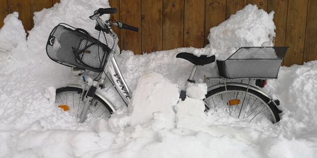 Fahrrad Flachau Schnee