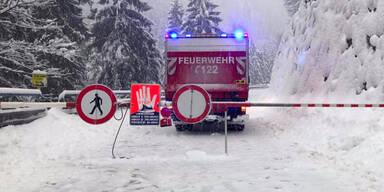 Feuerwehr Schnee