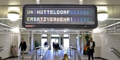 U4 Wiener Linien U-Bahn Störung Schienenersatzverkehr