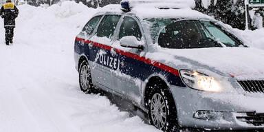 Winter Polizei Unfall
