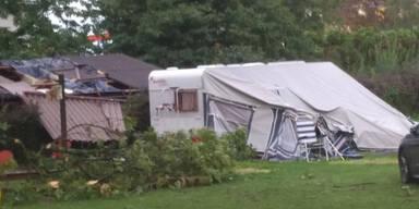 Campingplatz Unwetter Kärnten