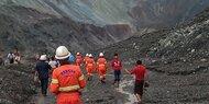Mehr als hundert Tote bei Erdrutsch in Jade-Mine in Myanmar