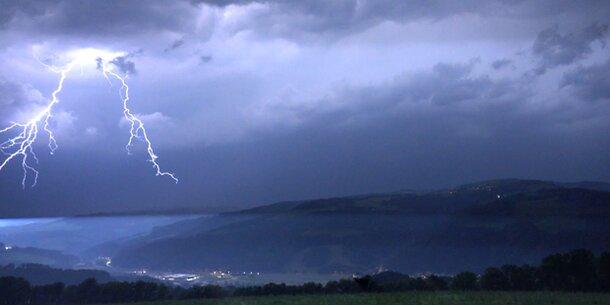 Fast 120.000 Blitze über Österreich