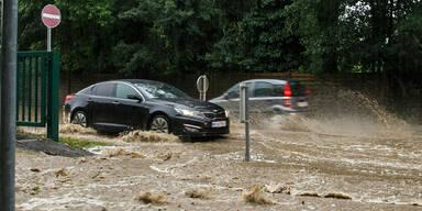 Steiermark: Starkregen in Graz-Andritz