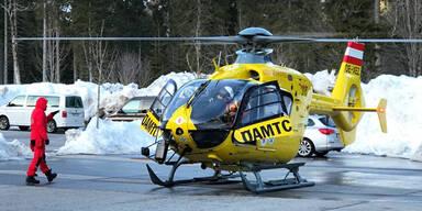 Rettungshubschrauber Lawine Einsatz Reutte