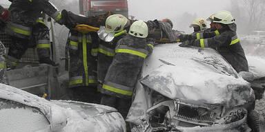 Schnee-Chaos in Ungarn