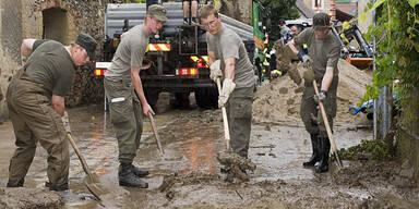 Bundesheer Assistenzeinsatz Überschwemmung Unwetter Weißenkirchen