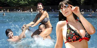 Wetter Hitze Bad Bikini Sommer