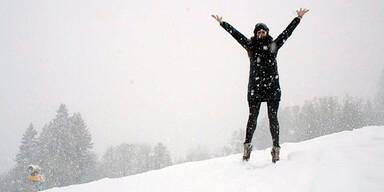 Winter Wetter Schnee Nebel Kälte