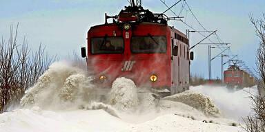 Schnee Unwetter Serbien