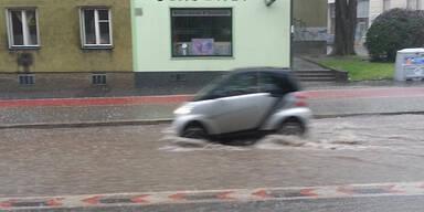 Überschwemmungen in Oberdöbling