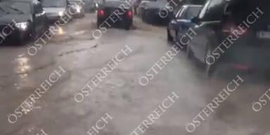 Überschwemmungen in Döbling