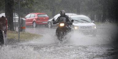 Wetter-Warnung: Hier muss man heute mit Starkregen rechnen
