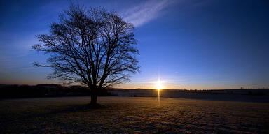 Wetter Sonnenaufgang Sommer