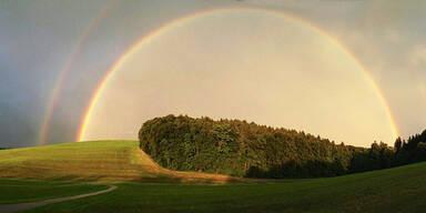 Wetter Regenbogen Sonne Sommer