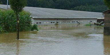 Überschwemmungen im Großraum Paldau
