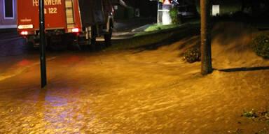 Überschwemmungen im Bezirk Jennersdorf