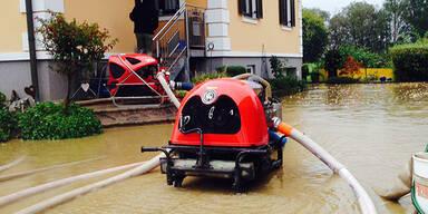 Überschwemmungen im Bezirk Leibnitz