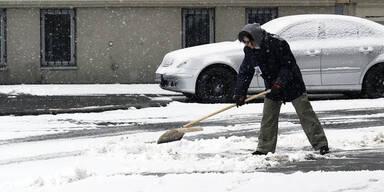 Schnee Wien Wetter Winter