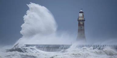 Sturm Orkan Meer Leuchtturm