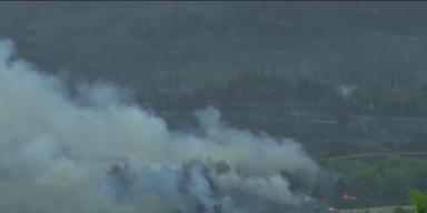 Hitzewelle: Großbrand im Norden Athens