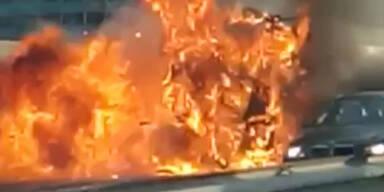 Stau-Chaos in Wien: Tangente nach Lkw-Brand gesperrt