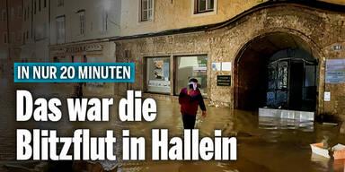 Das war die Blitzflut von Hallein
