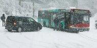 Schnee in Deutschland: Viele Unfälle